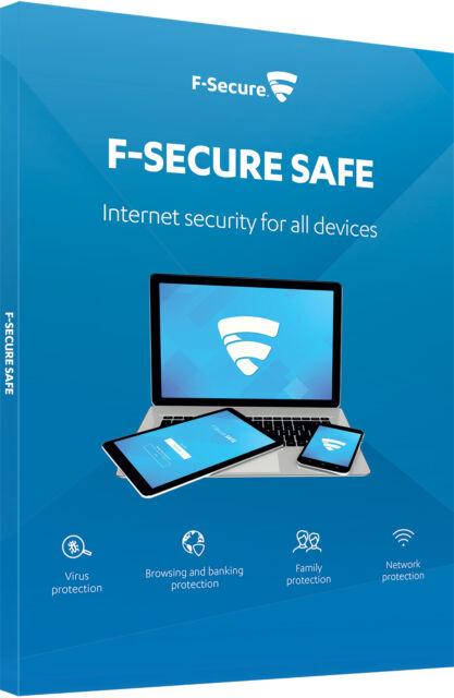 F-Secure sécure Sécurité Internet 2017 3 dispositifs ordinateurs PC 1 an
