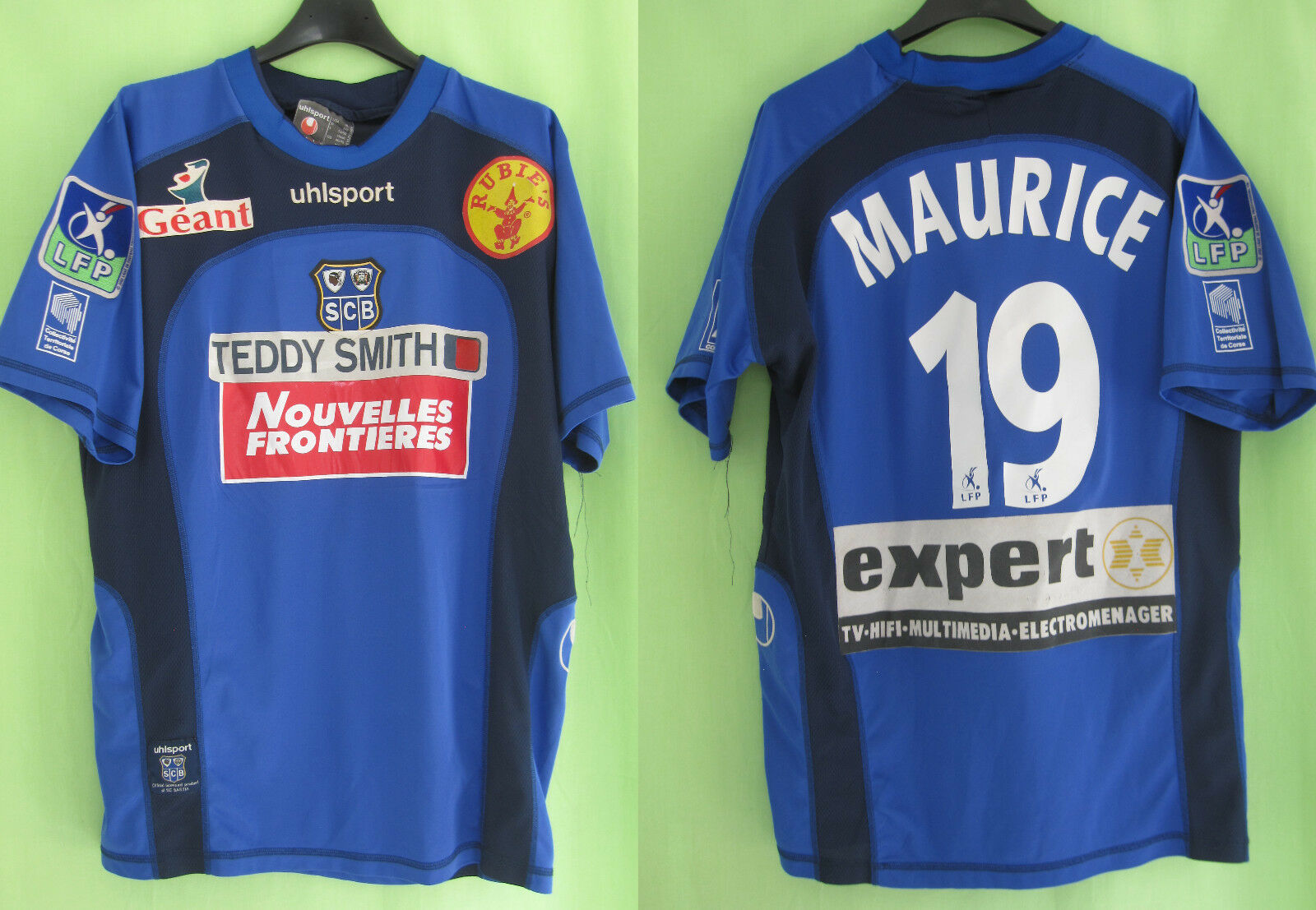 Maillot Sc Bastia  19 Porté Maurice SCB Uhlsport Teddy Smith vintage  XL