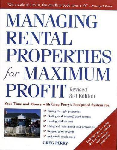 Managing Rental Properties for Maximum Profit: Save ...