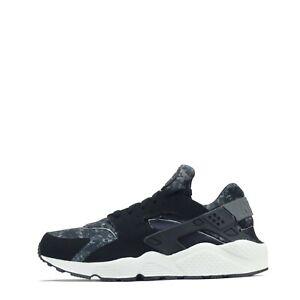 Details about Nike Air Huarache Camo Men's Trainers Shoes Black/ Grey