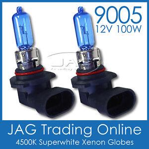 AQUATRACK 12V 9005 100W XENON WHITE 4500K HALOGEN HEADLIGHT GLOBES/BULBS