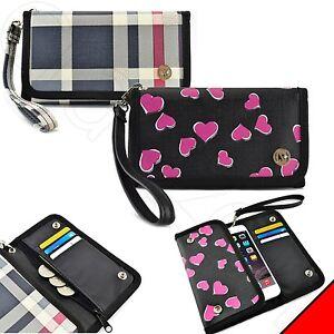 Luxury-Smart-Cell-Phone-Flip-Wallet-Leather-Wristlet-Pouch-Purse-Case-Cover