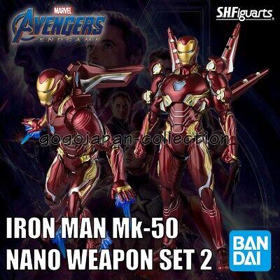 Bandai Avengers Endgame Mark 50 Nano Weapon set 2 Iron Man SH Figuarts SHF