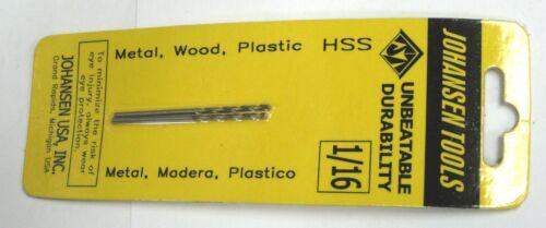 """1//16/"""" Jobbers Length Twist Drill bits hs high speed steel 10 pieces per bid .062"""