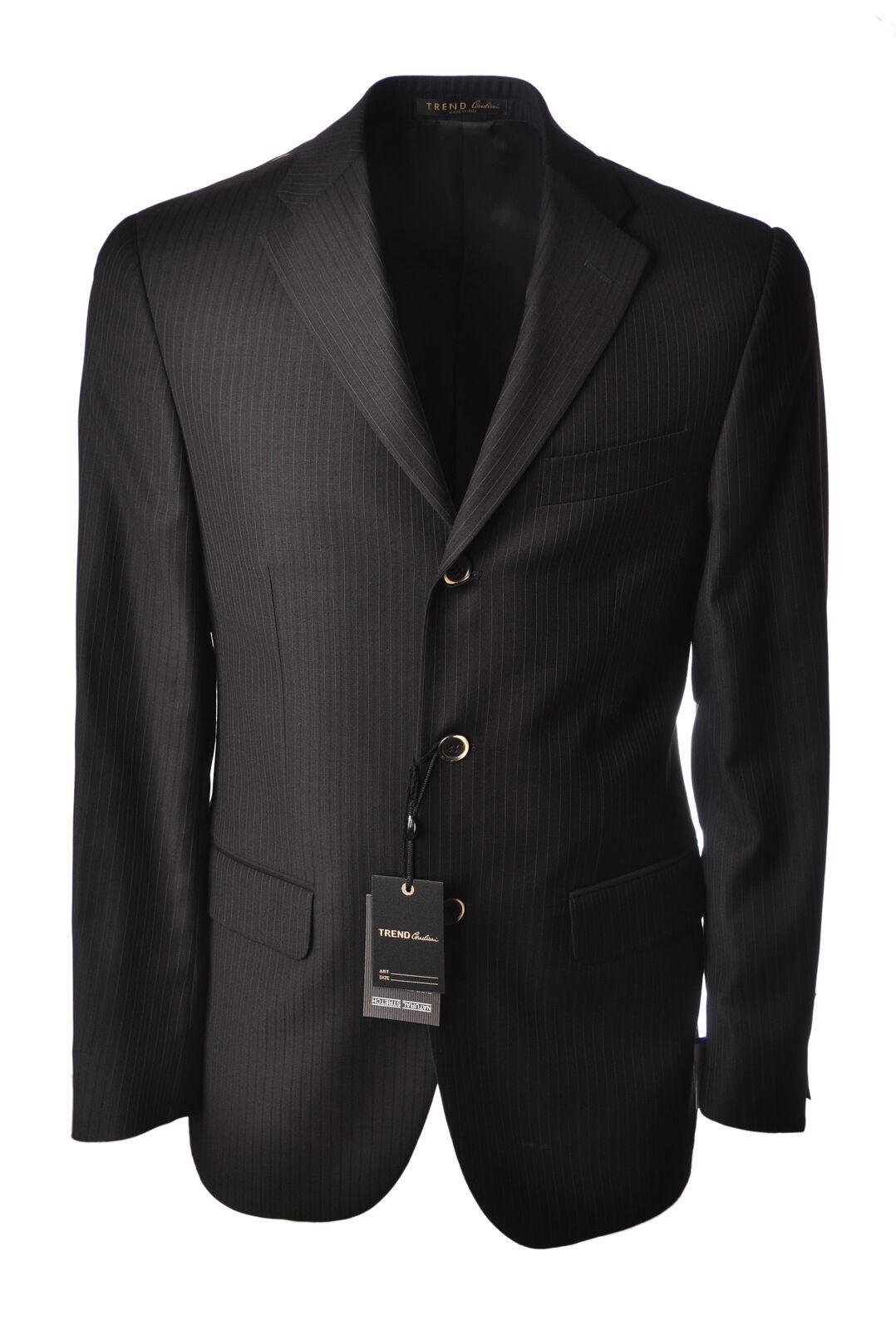 34bc9f84e Corneliani Trend - Länge - Männchen - Fantasie - 4713212A183425. Three  Piece Solid Navy Lazetti Couture Modern Fit 40R 34W Two Button Wool Suit