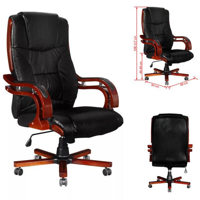 Bürostuhl 4 Farben Drehstuhl Chefsessel ECHT LEDER Schreibtischstuhl Stuhl NEU
