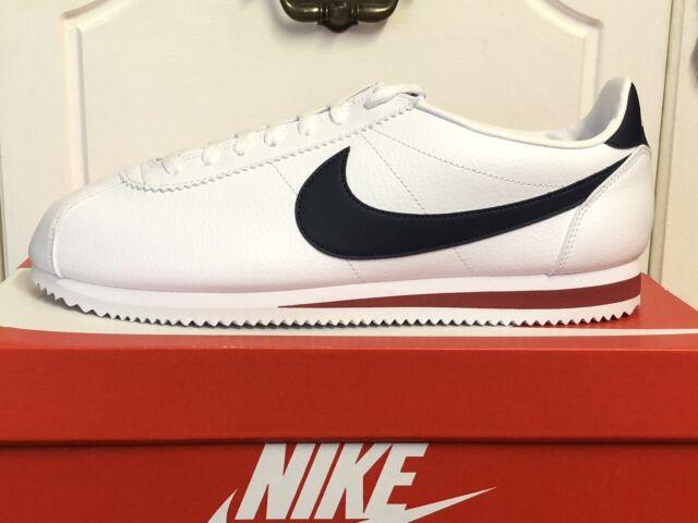 Nike Classic Cortez Leather White Blue UK 6.5 EUR 40.5 749571 146