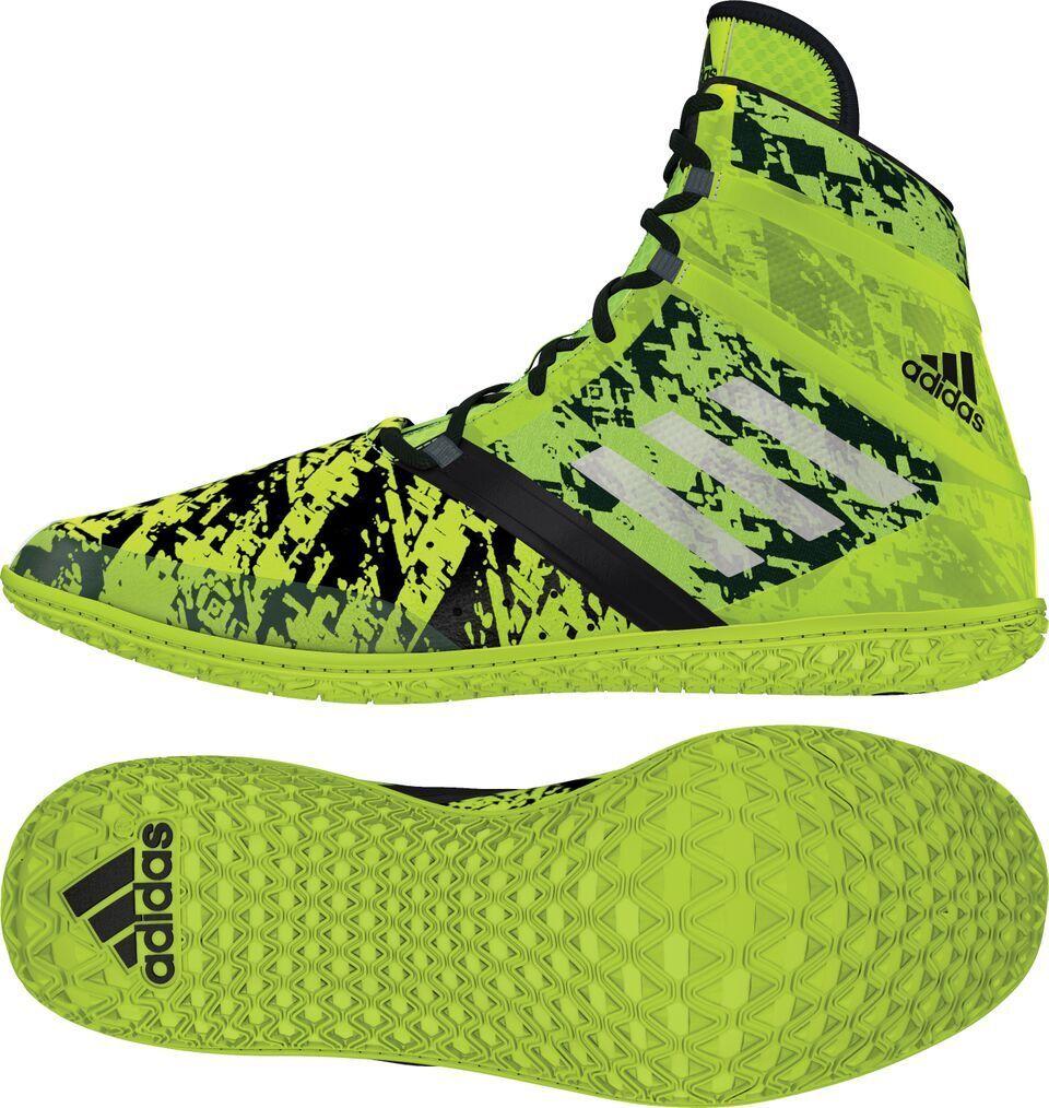 NEW! Adidas Flying Impact Uomo Wrestling Shoes Solar Yellow/Silver/Nero AQ3320