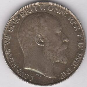 1906-Edward-VII-Silver-One-Florin-Two-Shillings-British-Coins-Pennies2Pounds