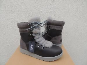 b0bcce46970 Details about UGG VIKI METAL LEATHER SHEEPSKIN WATER-PROOF WINTER BOOTS, US  8.5/ EUR 39.5 ~NWT