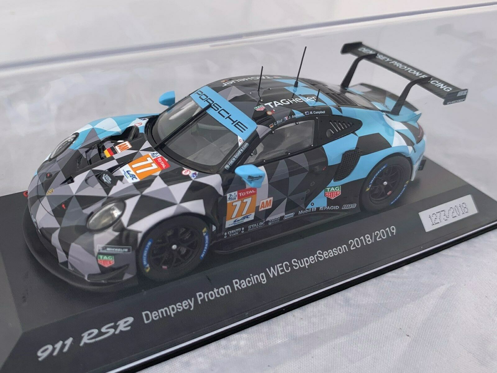 Precio por piso Porsche Porsche Porsche 911 RSR Le Mans Dempsey projoones Racing WEC 1 43 Limitada Minichamps Spark  hasta un 70% de descuento