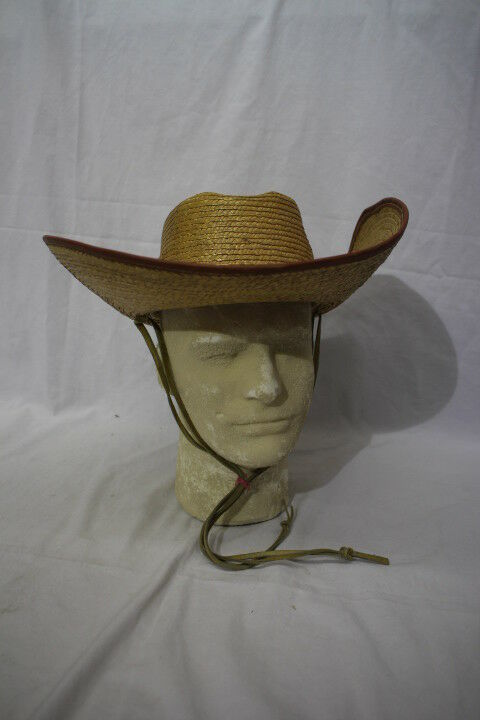 PIGALLE Brown Mens Straw Cowboy/Western Style Hat Mens Brown Size 57 Mexico-B12 42b7d9
