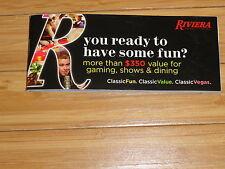 Las Vegas Riviera Souvenirs Funbook Coupon Book Exp 6/15/15  Rare!