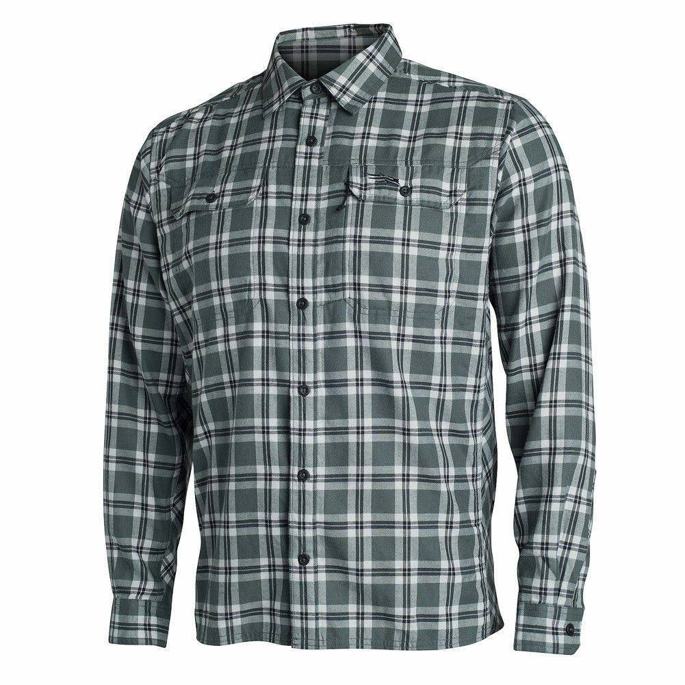 Sitka Frontier Flannel Long Sleeve Shirt 80011-LP Lead Plaid All Sizes