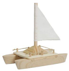 Katamaran Bausatz Holz Zum Basteln Spielen Fur Kinder Boot Spielzeug