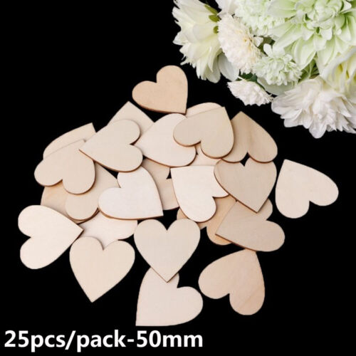 Rustic Wooden Love Heart Crafts Accessories Table Scatter Wood Embellishments