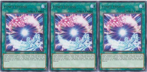 Yugioh Engli 3x Cynet Fusion Unlimited Edition Near Mint Rare SOFU-EN050