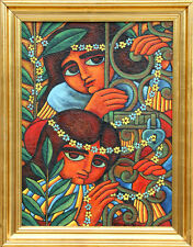 Wellington Virgolino de Sousa, Meninas no Portao, Oil Painting Lot 47