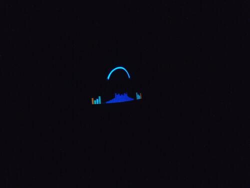 SOUND MUSIC Activated LED FLASHING HEADPHON EQUALIZER LOGO SIGN DJ PARTY HAT CAP