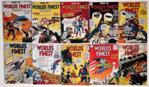 "10 WORLD'S FINEST COMICS 2"" x 3"" COVER MAGNETS World's Finest #7180"