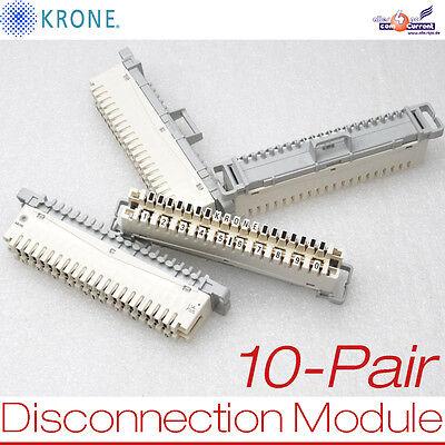 Unparteiisch New 10-patr Disconnection Modul Krone Pbt-fr Lsa-plus Plints Ti22780 E22780 Neu Elegant Und Anmutig Elektronik & Messtechnik