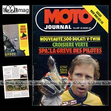 MOTO JOURNAL N°419 GRAHAM NOYCE BRAD LACKEY DUCATI 900 SS & 500 PANTAH '79