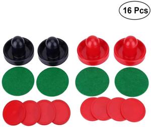 2 Red 4 Large Size 2 Navy pushers Yeelan Air Hockey Pushers /& Pucks 2 sets