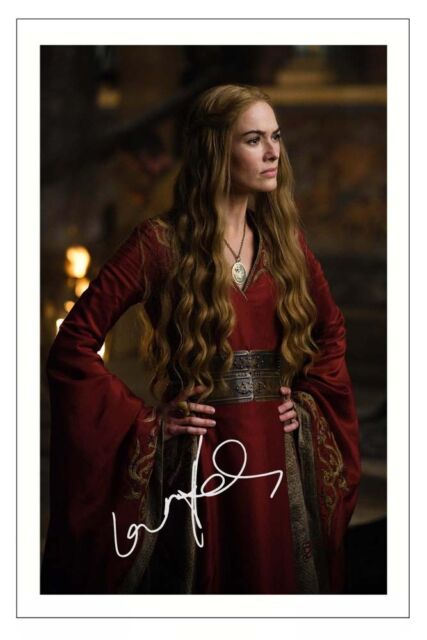 Lena Headey Game Of Thrones SIGNED AUTOGRAPHED 10X8 REPRO PHOTO PRINT