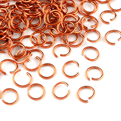 Coloré Aluminium Wire Open Jump Rings unsoldered 20-Jauges loose Loops Link 6 mm