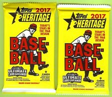 LOT OF (2) PACKS 2017 TOPPS HERITAGE RELIC, PATCH, STAMP OR AUTO HOT PACK
