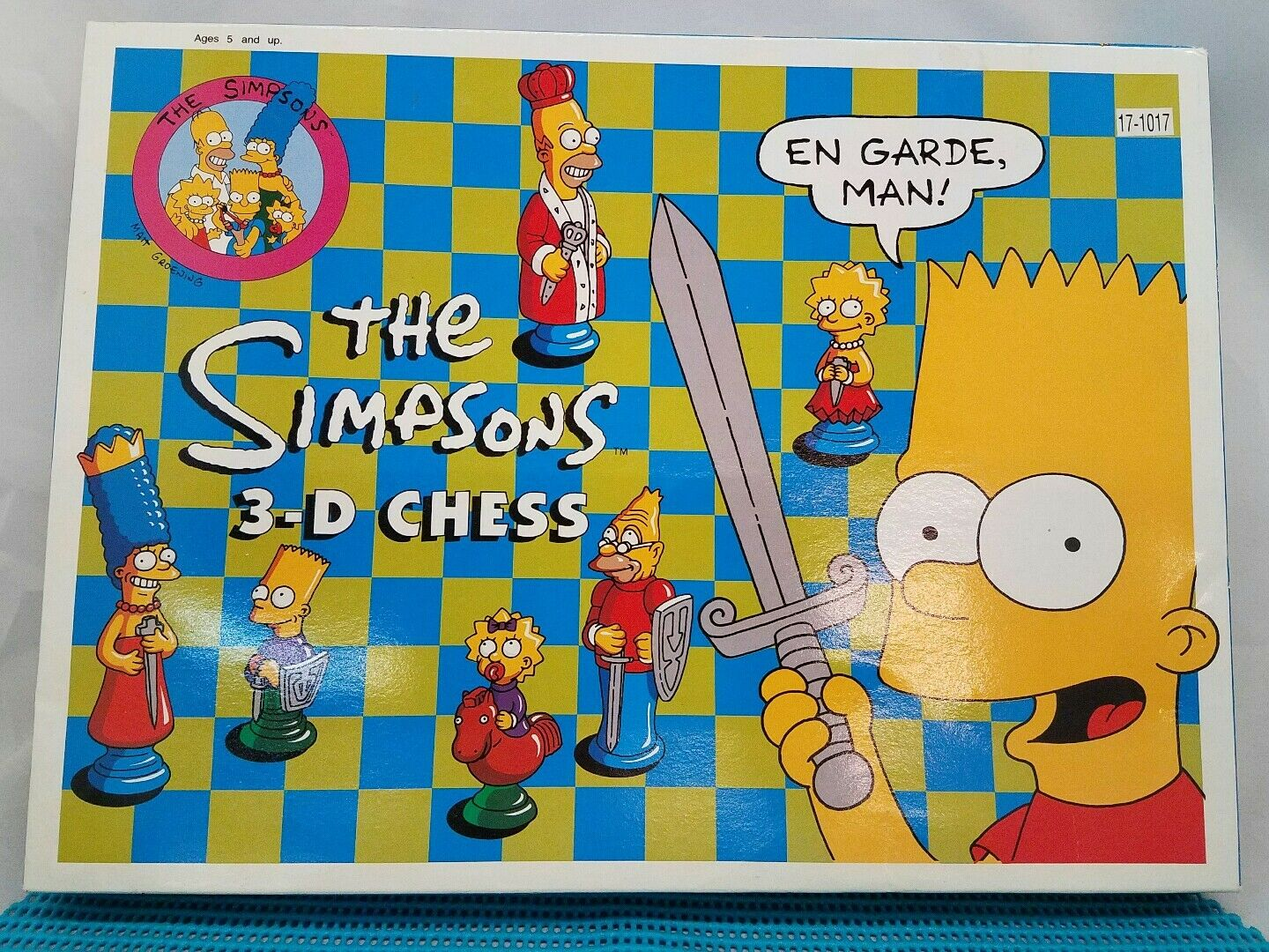 The Simpsons 3-D Chess Set 1991 Complete Set