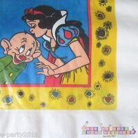 Snow White Vintage Lunch Napkins (16) Birthday Party Supplies Seven Dwarfs