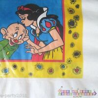 Snow White Vintage Lunch Napkins (16) Birthday Party Supplies Seven Dwarfs