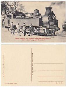 AK-EISENBAHN-um-1915-Eroberte-belgische-Bergschub-Tenderlokomotive-1415