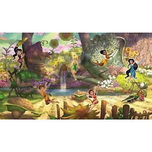Image Is Loading DISNEY FAIRIES WALL MURAL New XL Tinkerbell Amp