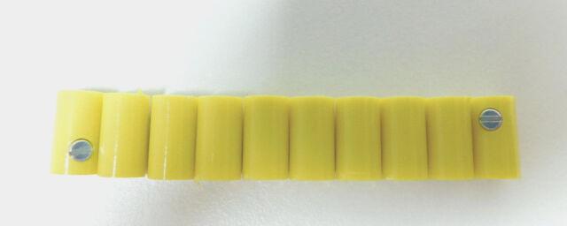 10 Muffen GELB z.B. für Märklin H0 Modellbahn oder N, TT etc.