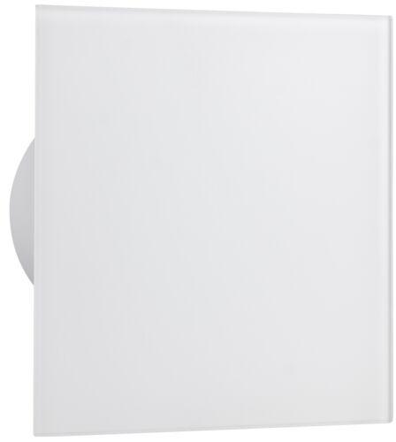 airRoxy dRim Wohnraumventilator Lüfter Front Echtglas weiß matt Ø100-Ø125 mm