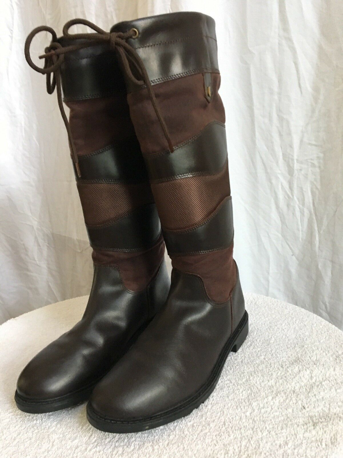 Equestrain Tall botas  by Treadstone the Milano Talla 8 New in Box Chocolate