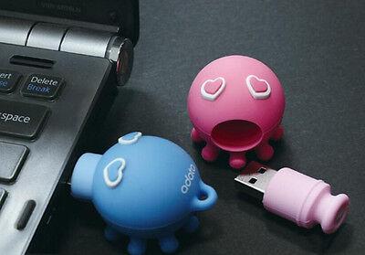 Cartoon octopus USB 2.0 Memory Stick Flash pen Drive 8GB 16GB 32GB 64GB AP507