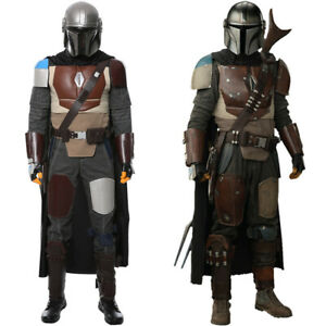 Star Wars The Mandalorian Cosplay Costume Uniform Halloween Outfit MASK Full Set