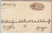 ANTICHI STATI:  MODENA   storia postale - PRECURSORI busta - BRESCELLO 1852