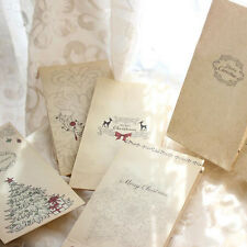 6pcs/lot Hot Christmas Kraft Paper Bag Bake Gift Bags Party Wedding Packaging