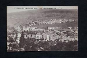 Tarjeta-Postal-CPA-Pontarlier-Hospital-Y-Campo-de-Pareuses