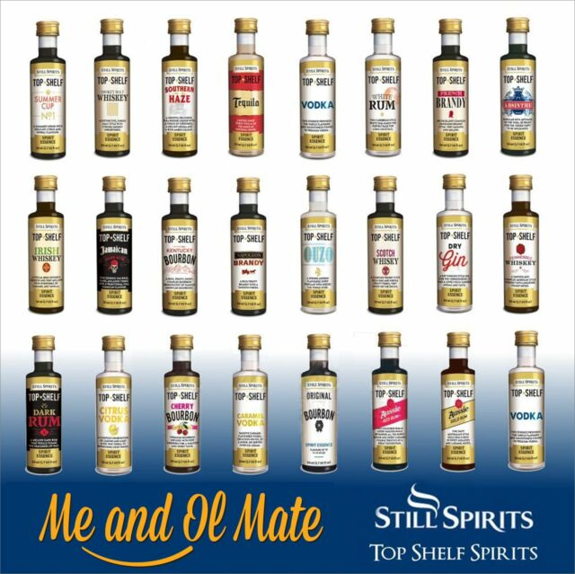 STILL SPIRITS TOP SHELF SPIRIT ESSENCES ANY 6 OF CHOICE HOME BREW SPIRIT MAKING
