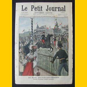 LE-PETIT-JOURNAL-Supplement-illustre-Le-raid-Bruxelle-Ostende-14-septembre-1902