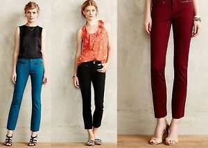 New-Anthropologie-Cartonnier-Texture-Charlie-Pants-Red-Teal-Black-4-6-8-10-12-14