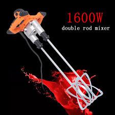 Portable Electric Mortar Mixer 1600w Cement Concrete Plaster Grout Agitator 110v