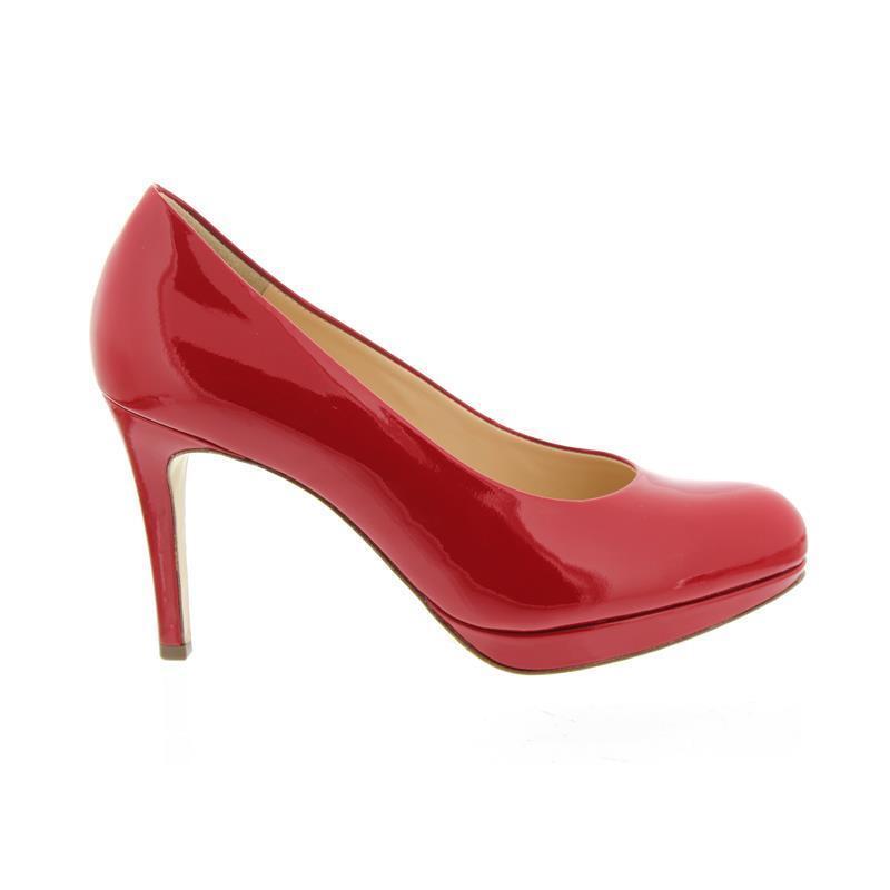 HÖGL Platform Pumps, Soft Patent-Leather, rojo 108004-4300