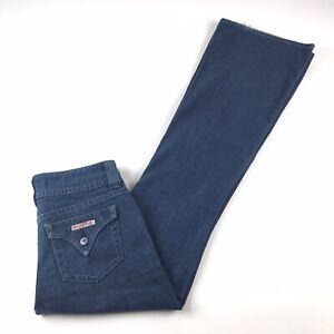 Hudson A Rayas Clasico 5 Bolsillo Pantalones Vaqueros Para Mujer Bootcut Azul Pantalones Talla 27x33 Ee Uu Ebay