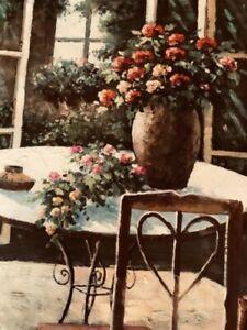 original-oil-painting-on-canvas-signed-unframed-Botanical-27-034-x-23-multi-color
